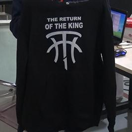 Svart tröja för utskrift av A2 t-shirtskrivare WER-D4880T