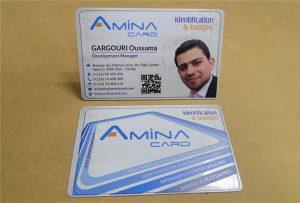 Företagsnamnskort printsample från skrivbordet UV-skrivare -A2 storlek WER-D4880UV