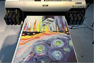 Canvasprov från A2 UV-skrivare WER-EH4880UV