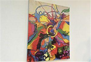 Canvasprov tryckt av A1-storlek UV-skrivare WER-EP6090UV