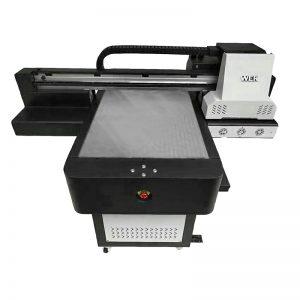 Liten storlek högkvalitets telefonväska flatbed UV-skrivare WER-ED6090UV