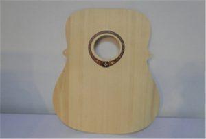 Trä gitarrprov från A2-storlek UV-skrivare WER-DD4290UV